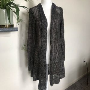 Eileen Fisher Loose Knit Shimmer Cardigan Duster
